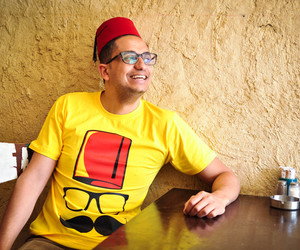 hipster, yellow, and t shirt image