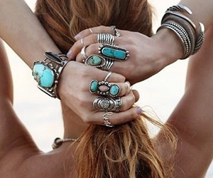rings, hair, and summer image