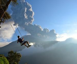 swing, sky, and ecuador image