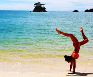 beach, paradise, and sand image