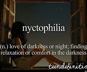 Darkness, comfort, and night image