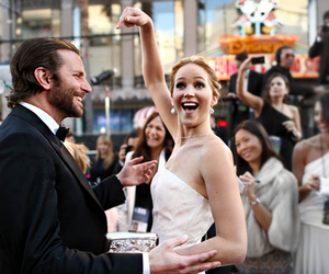 Jennifer Lawrence, bradley cooper, and oscars image