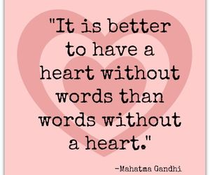 advice, gandhi, and heart image