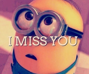 minions, miss, and i miss you image