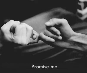black and white, promise, and quotes image