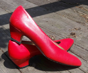 80s, redpumps, and red image