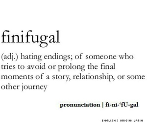 finifugal, word, and ending image