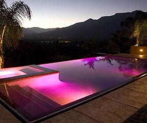 lights, orange, and purple image