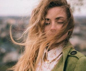 green, hair, and wind image