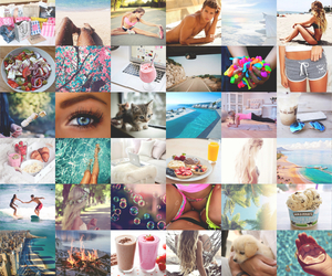 beautiful, summer, and Collage image