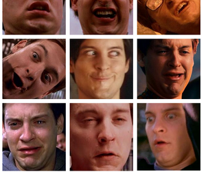 funny, face, and spiderman image