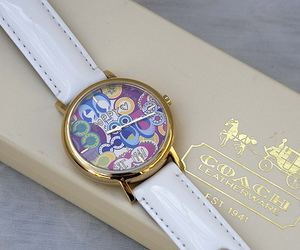 watch, coach, and luxury image