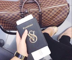 vs, passport, and bag image