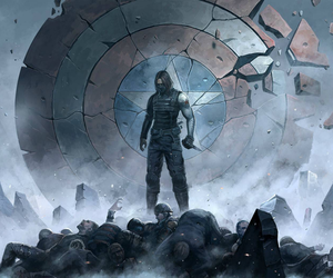 bucky, winter soldier, and 冬日战士 image