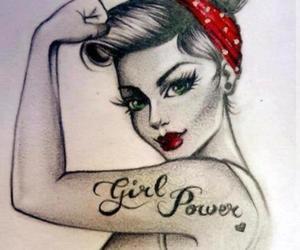 beautiful, girl, and tattoo image