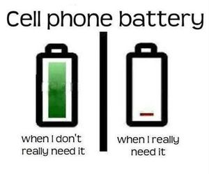 phone, funny, and battery image