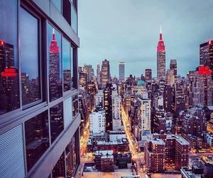 manhattan, city, and new york image