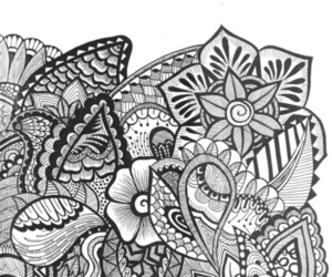 doodle, Sharpie, and zentangle image