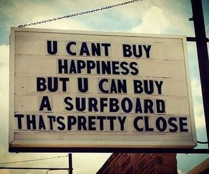 surf, happiness, and surfboard image