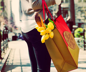 fashion, tulips, and flowers image