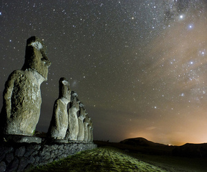 easter island and sky image