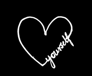 overlay, love yourself, and heart image