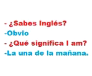 ingles, chistes, and frases en español image