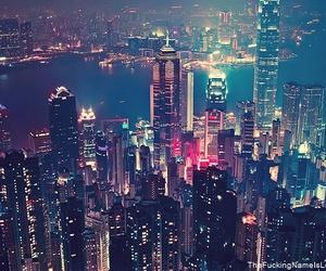 city, light, and nyc image