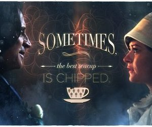 once upon a time, belle, and rumbelle image