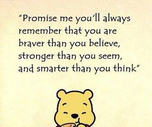 quote, winnie the pooh, and strong image