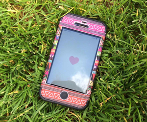 iphone, grass, and heart image