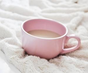 pink, coffee, and tea image