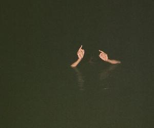 grunge, dark, and water image