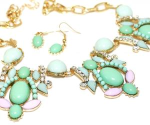 jewelry, vintage style, and statement necklace image