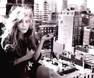 olsen, black and white, and city image
