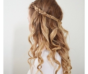 bride, hairstyle, and braide image