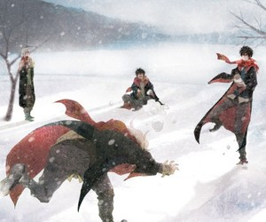 art, harry potter, and winter image
