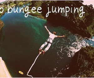 bucket list and bungee jumping image
