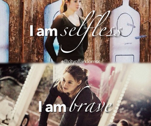 divergent, brave, and selfless image