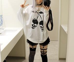 pastel goth, cute, and kawaii image