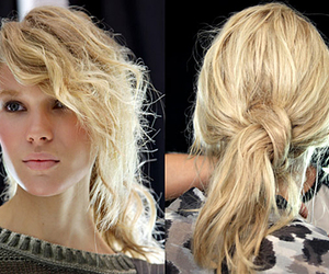 hair, hair style, and updo image