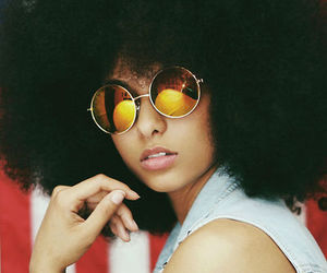 Afro, natural hair, and african american woman image