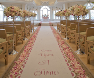aisle, flowers, and wedding image