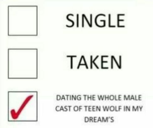 teen wolf, single, and taken image