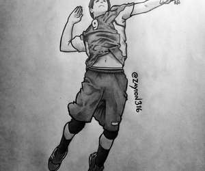 artist, athlete, and volleyball image