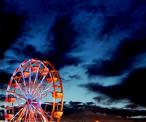 ferris wheel, sky, and photography image