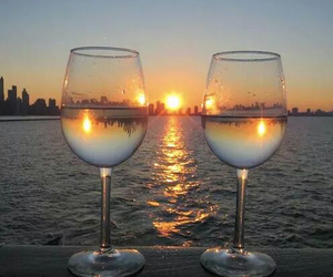 sunset and drink image