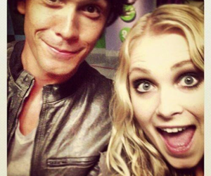bob morley, the 100, and eliza taylor image