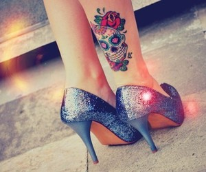 tattoo, skull, and shoes image