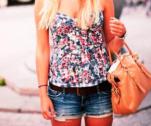 fashion, bag, and shorts image